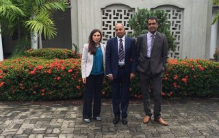 Myself, Professor Siriwardena and Mr. Jegatheeswaran outside the RCS Sri Lanka