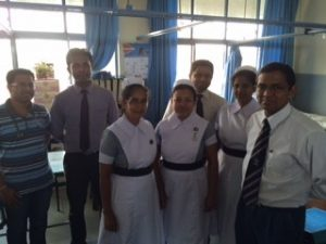 Professor Pathrana and his team at Colombo South Hospital